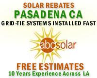 Pasadena solar energy installation rebates