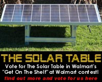 Vote to put The Solar Table on the shelf at Walmart
