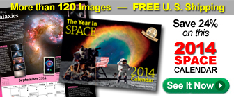 The Year In Space Wall Calendar
