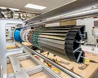 Heavy particles get caught up in the flow