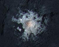 Bright hydrothermal deposits on dwarf planet Ceres have a style all their own - Space Daily