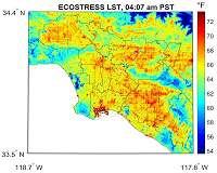 ECOSTRESS Maps LA's Hot Spots