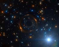 Odd behavior of star reveals lonely black hole hiding in giant star cluster