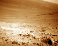 Opportunity collecting panoramas of high-value targets at Endeavour Crater