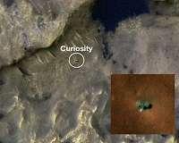 MRO HiRISE camera views InSight and Curiosity on Mars
