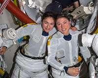 Jessica Meir, Christina Koch complete first 2020 spacewalk