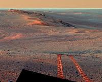 Opportuity Mars rover looking for a path of less resistance
