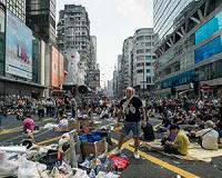 Protest violence won't work, leading Hong Kong activist says
