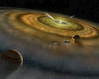 Astronomers find warped protoplanetary disk around distant star