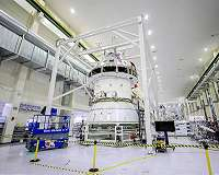 NASA begins installing orion adapter for first Aartemis lunar flight - Space Daily