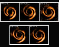 Astronomers See Moving Shadows Around Planet-Forming Star