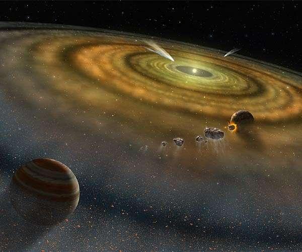 Solar system formation in two steps