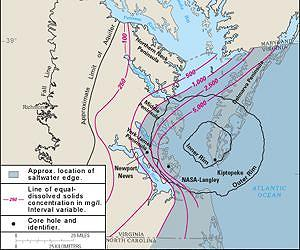 Asteroid overlay of the Chesapeake Bay