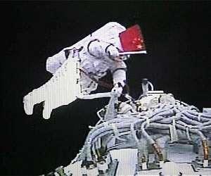 china astronaut eva flag shenzhou lg