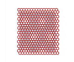 formation moire pattern two honeycomb lattices light twist atomic electricity lg