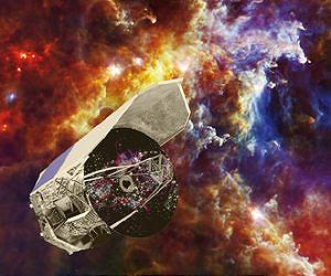 The European Space Agency's Herschel Space Telescope was able to examine the far-infrared light of star-forming regions until it was retired in 2013. Credit: ESA