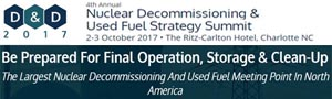 Nuclear decommissioning and used fuel market map 2017