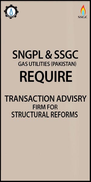 Request for Expression of Interest - Sui Northern Gas Pipelines Ltd (SNGPL) and Sui Southern Gas Company Limited (SSGC)