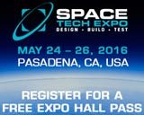 Space Tech Expo - Design - Build - Test - Pasadena CA - May 24-26, 2016