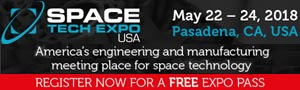 Space Tech Expo - Design - Build - Test - Pasadena CA - May 22-24, 2018