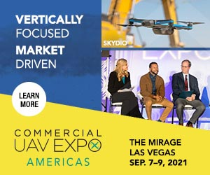 2021 Commercial UAV Expo Americas event, to be held September 7-9 LIVE in Las Vegas